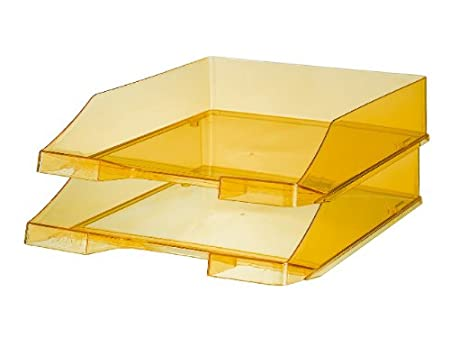 HAN 1026-X-23, Briefablage KLASSIK, 12 Stück, Modern, Schick, Transparent und Hochglänzend, 12er Packung, transparent-glasklar (klar) 12 Stück 1026-X-23/12