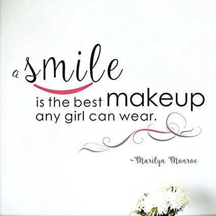 A Smile Is The Best Makeup Any Girl Can Wear Peel And Stick Marilyn