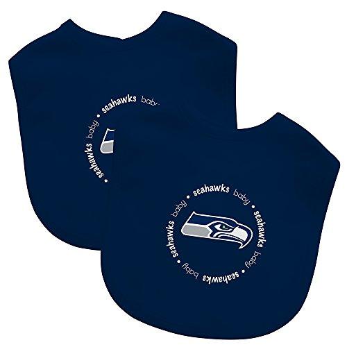 Baby Fanatic Team Color Bibs, Seattle Seahawks, 2-Count
