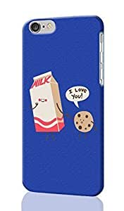 cookies and milk Pattern Image - Protective 3d Rough Case Cover - Hard Plastic 3D Case - For iPhone 6 Plus- 5.5