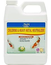 API Pond Chlorine & Heavy Metal Neutralizer Pond Water Neutralizer 32-Ounce Bottle