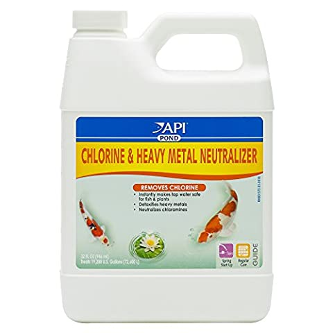 API POND CHLORINE & HEAVY METAL NEUTRALIZER Pond Water Neutralizer - Api Tap Water Conditioner