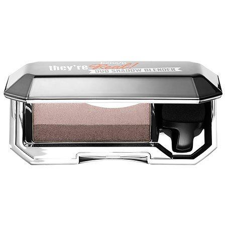 Eye Sheen Duos - Benefit Cosmetics They're Real! Duo Eyeshadow Blender Beyond Easy Eyeshadow Duo (Sexy Smokin' - pewter (sheen) / charcoal brown (soft matte))