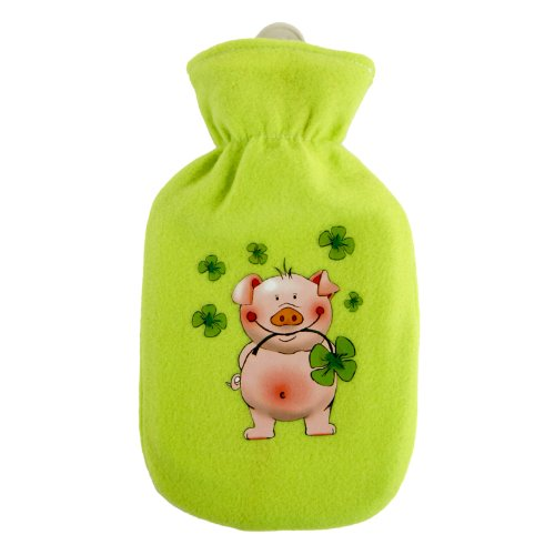Wärmflasche mit Fleecebezug 500ml GLÜCKSSCHWEIN 409986