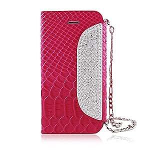 compra Circón cadena del grano del cocodrilo del cuero de caso completo del cuerpo para el iPhone 5/5S (colores surtidos) , Rose