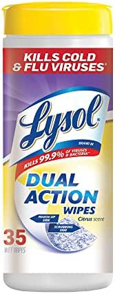 Multi-Surface Wipes: Lysol Dual Action Disinfecting Wipes