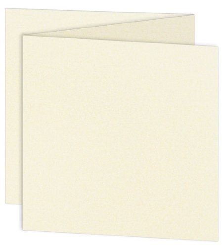 Stardream Opal Square - 6 1/4 Square Stardream Opal Blank Cards - ZFold, 105lb Cover, 25 Pack
