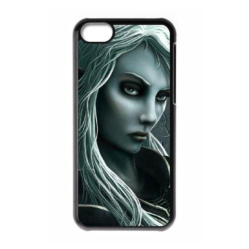 O7A40 fille fantastique cas de téléphone A5V8FZ coque iPhone 5c cellulaire couvercle coque noire XB5LCJ2FI