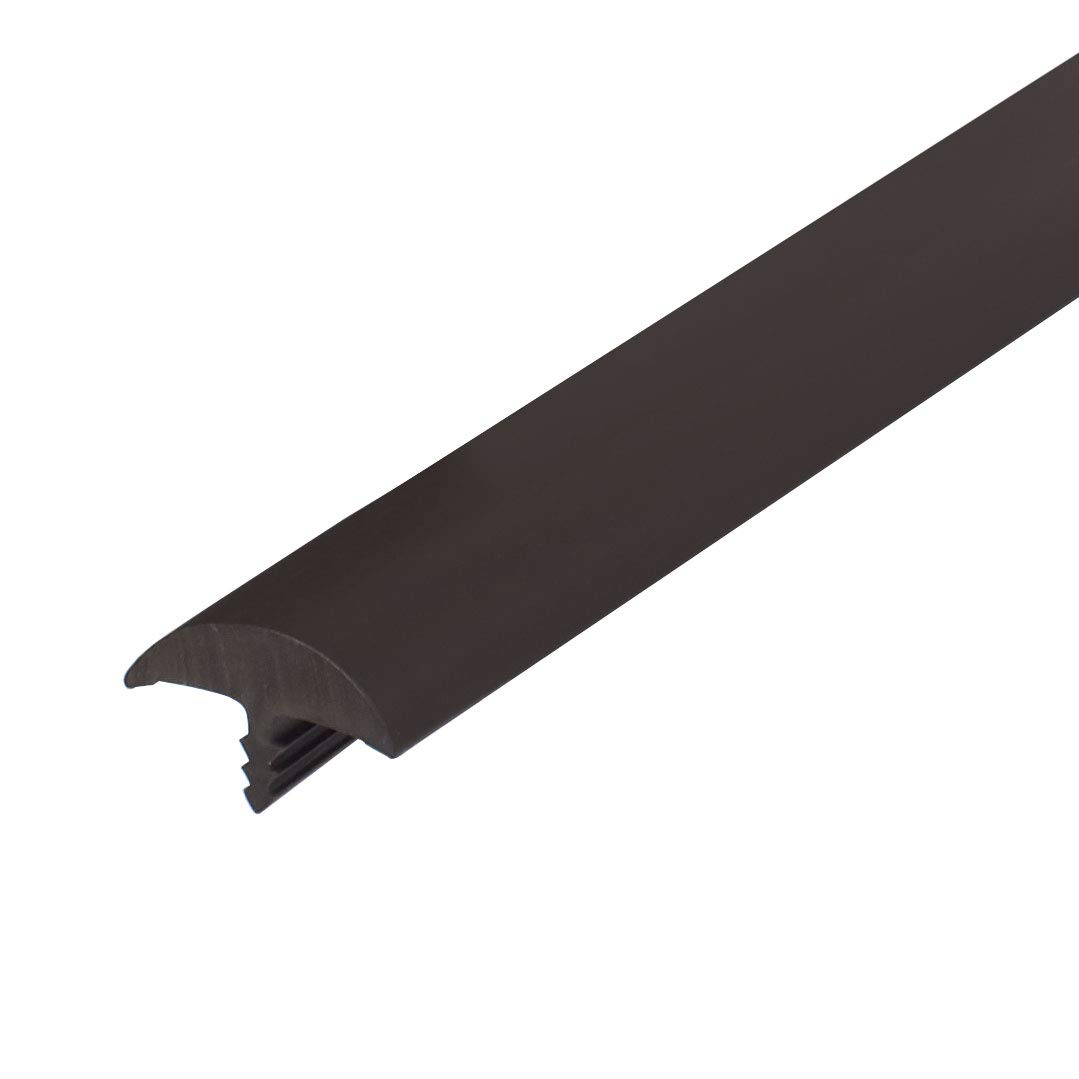 Outwater Plastic T Molding Tee Mldg 13//16 Brown Flexible PVC Round Bumper Tee Moulding 25 Foot Coil Hobby Pack for Tables and Arcades