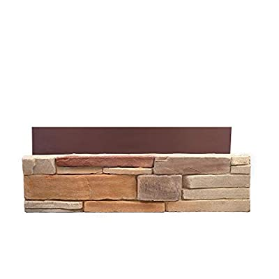 Natural Concrete Products Co DTFLATSP Adorn Mortarless Stone Veneer Siding | Ledgestone Series | Desert Tan | 8x8 Sample 8 x8