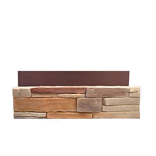 - Natural Concrete Products Co DTFLATSP Adorn Mortarless Stone Veneer Siding | Ledgestone Series | Desert Tan | 8x8 Sample, 8 x8