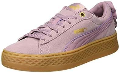 NEW PUMA Ladies Womens Suede Vikky Purple Elderberry Tennis Gym Shoes Sneakers