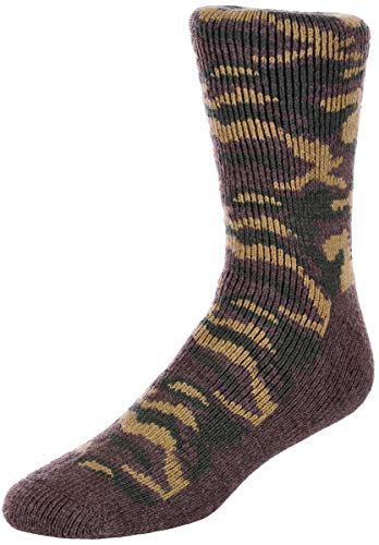Polar Insulated Pant - Men's Polar Extreme Insulated Thermal Camouflage Pattern Socks in 3 Great Colors (6-12, Woodland Camouflage)