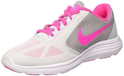 GS White Niñas Grey Multicolor Revolution Wolf 3 para Blast Pink Zapatillas Platinum Nike Pure 007 qOZ4XxE