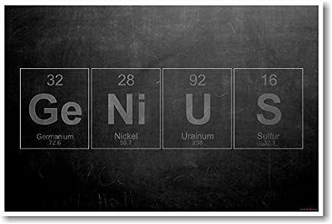 Amazon Genius Periodic Table Elements New Science Humor