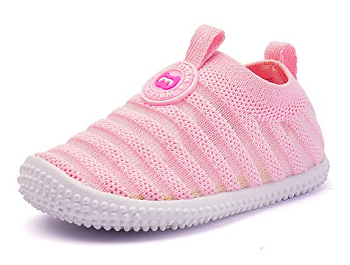 BMCiTYBM Baby Shoes Boy Girl Infant Sneakers Flyknit Non-Slip First Walkers 6 9 12 18 24 Months Pink