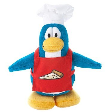 Disney Club Penguin 6.5 Inch Series 6 Plush Figure Pizza Chef Version 2 Includes Coin with Code! by Disney