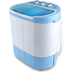 Electric Portable Washing Machine & Spin Dryer Compact Durable Design To Wash All your Laundry Twin Tub Washer | for Apartments, Dorms, College Rooms, RV Camping Swim Suit Spinner Dryer (PUCWM22)