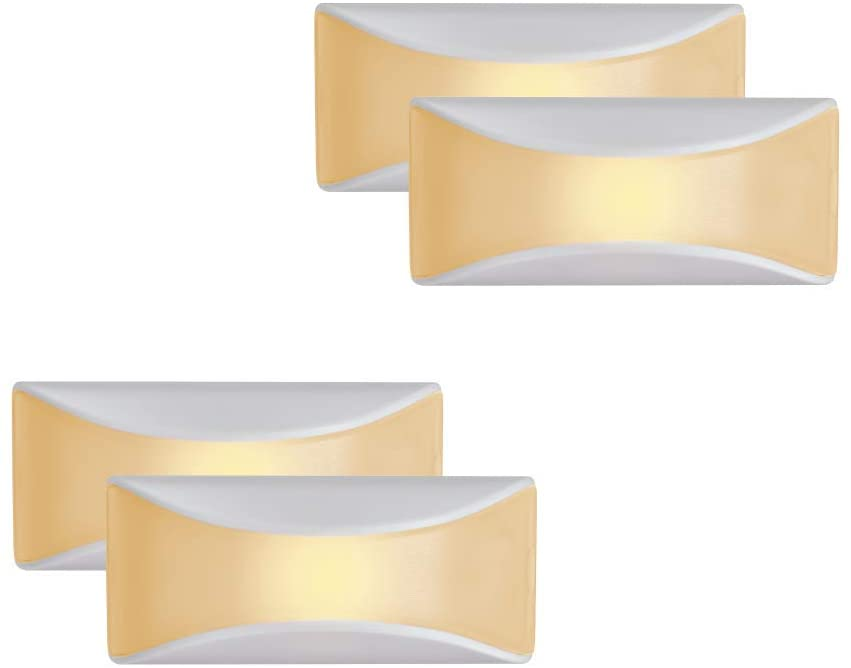 Mr Beams MB500A-WHT-04-00 LED Dusk to Dawn Stair Night Light, One Size, White, 4 Each