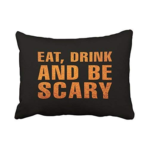 Custom Eat Drink and Be Scary Halloween Pillow