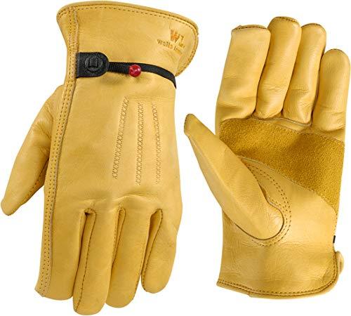Heavy-Duty Grain Cowhide Leather Work Gloves