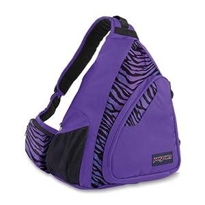 JanSport Air Cisco Backpack (Black/Prism Purple Flashback Zebra)