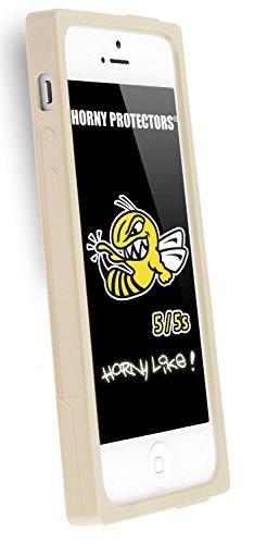 Horny Protectors® Schutzhülle Cover Case Retro Style Kassette für Apple iPhone 5/5S Grau Silikon