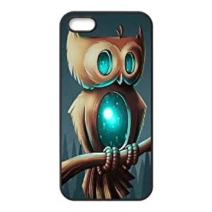 AKERCY Owl Phone Case For iPhone 5,5S [Pattern-5]