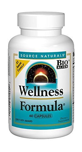 Source Naturals Wellness Formula Bio-Aligned Supplement Herbal Defense Complex Immune System Support & Immunity Booster Wholefood Multivitamin With Vitamins & Antioxidants - 60 Capsules -