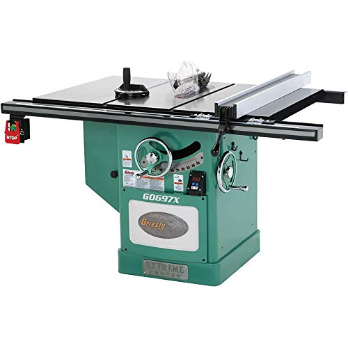 - Grizzly G0697X 7.5 HP 3-Phase Extreme Series Left Tilt Table Saw, 12-Inch