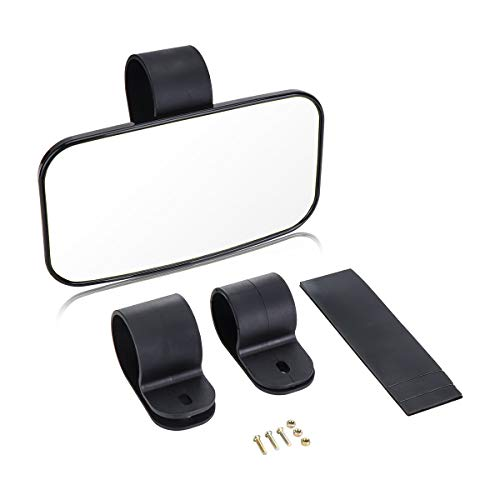 Rear View Mirror for UTV, ISSYZONE High-Definition Mirror with ShatterProof Tempered Glass and 1.5