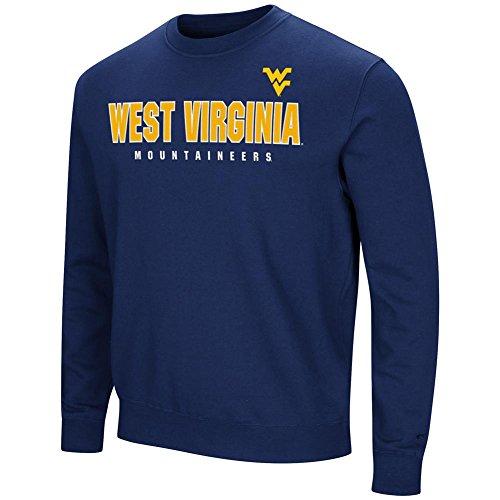 Colosseum West Virginia Mountaineers Sweatshirt Playbook Crew Neck Fleece (XX-Large) ()