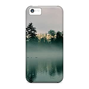 New Style Our Melody A Foggy Quiet Morning At The Lake Premium Tpu Cover Case For Iphone 5c