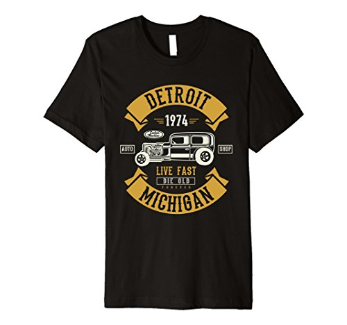 City Classic Car - Mens Vintage Hot Rod Detroit Michigan Muscle Car Auto T-shirt 2XL Black