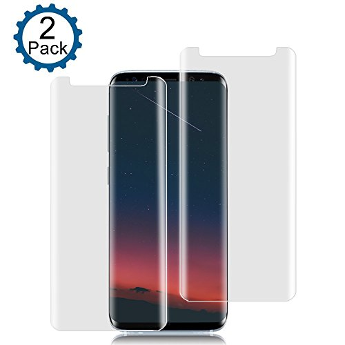 [2-Pack] Galaxy S8 Screen Protector, ZAOX Tempered Glass Screen Protector [9H Hardness] [Anti-Scratch] [Anti-Bubble] [3D Curved] [High Definition] [Ultra Clear] for Samsung Galaxy S8 (Clear)