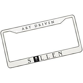 Amazon Com Sullen Unisex Art Driven License Plate Frame Black