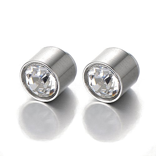 Magnetic Earrings Zirconia Non Piercing Cheater