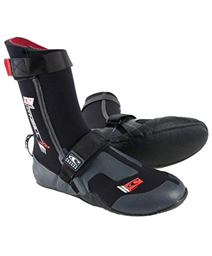 O'Neill Wetsuits Mens Heat 5mm Round Toe Boot,Black, Size - 6