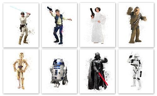 Star Wars Collector Prints - Set of Eight Photos (8