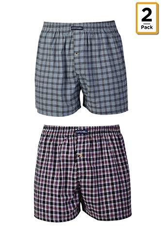 Men's Premium Cotton Boxer Shorts - 2 in a Pack