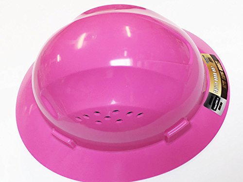 Pink Full Brim Hard Hat with Fas-trac Suspension