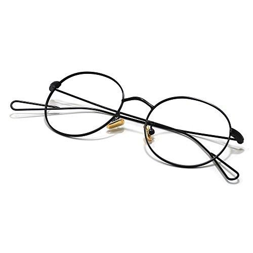 Slocyclub Slim Metal Frame Eyeglasses Round Avaitor Retro Glasses Mens And - Ladies Cooling Glass