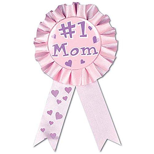 #1 Mom Award Ribbon Party Accessory (1 count) (1/Pkg)