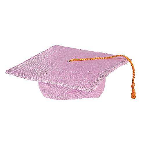 Fun Express - Elem Grad Mortarboard Hat Pink for Graduation - Apparel Accessories - Hats - Graduation Hats - Graduation - 1 ()