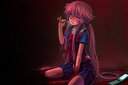 Tomorrow sunny yandere anime girls dark horror blood ringing