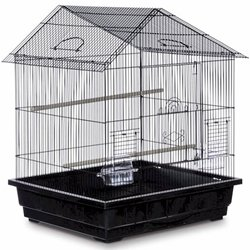 Prevue Offset Roof Parakeet Cage With Removable Bottom Gr...