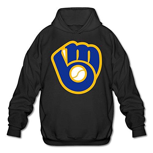 Milwaukee Hooded Jacket Brewers - BADOU Cool Milwaukee Brewer Men's Hoodie XXL Black