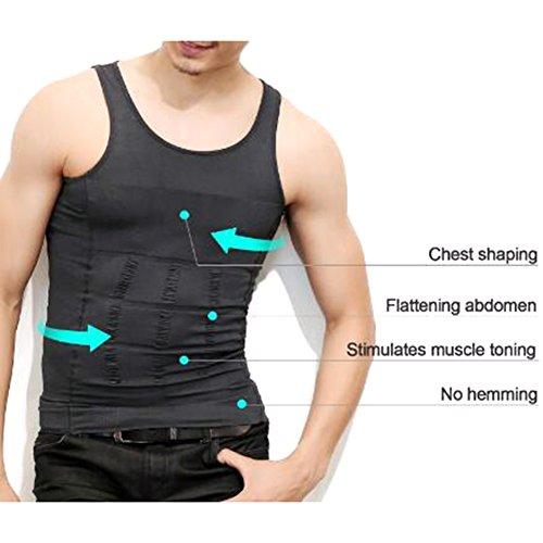 Para hombre TopTie cuerpo-former-chaleco-camisa Abs fitnessexpress enjutos YcN9gV