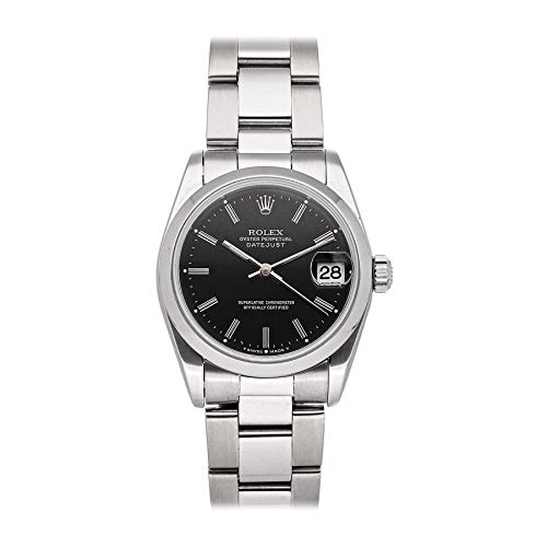 Rolex Datejust Mechanical (Automatic) Black Dial Womens Watch 8240 (Pre-Owned)