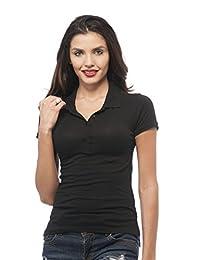 Classic Short Sleeve Jersey Polo Shirt (Large, Black)